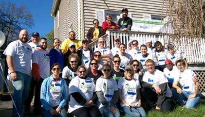 Rebuilding Together Boston Volunteer Group Photo